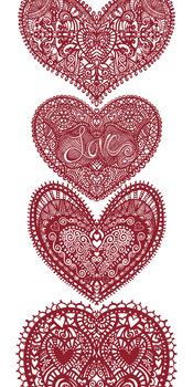 Lace Doilies, Heart ClipArt, Valentine ClipArt, Digital Stamps.