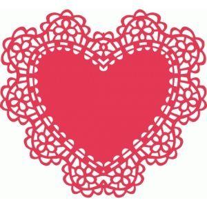 Doily heart clipart 3 » Clipart Portal.