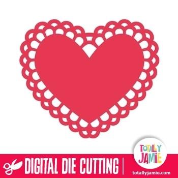 Doily heart clipart 1 » Clipart Portal.