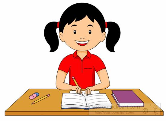 Doing homework clipart.