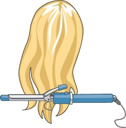 Doing Hair Clipart.
