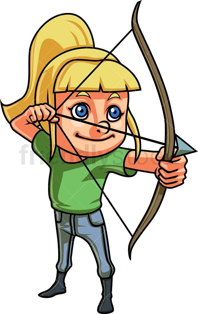 Little Girl Doing Archery.