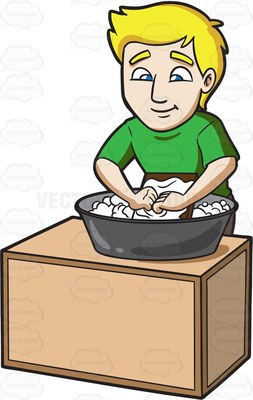 laundry Cartoon Clipart.