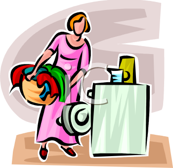 Lady Doing the Laundry.