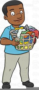 Man Doing Laundry Clipart.