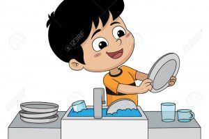 Child washing the dishes clipart 9 » Clipart Portal.