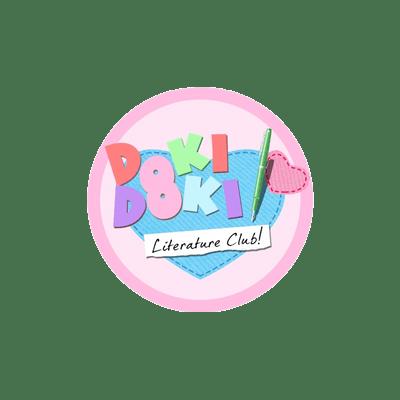Doki Doki Literature Club Logo transparent PNG.