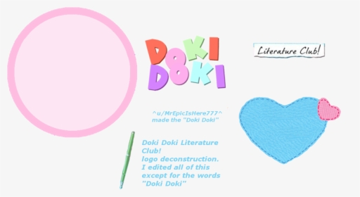 Doki Doki Literature Club Logo PNG Images, Transparent Doki.