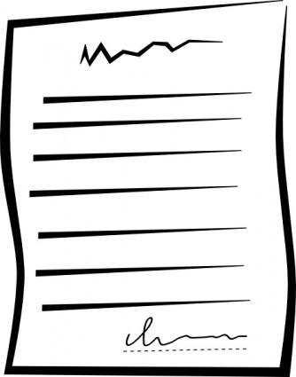 Unterzeichneten Dokument bieten ClipArt Clipart Graphic.