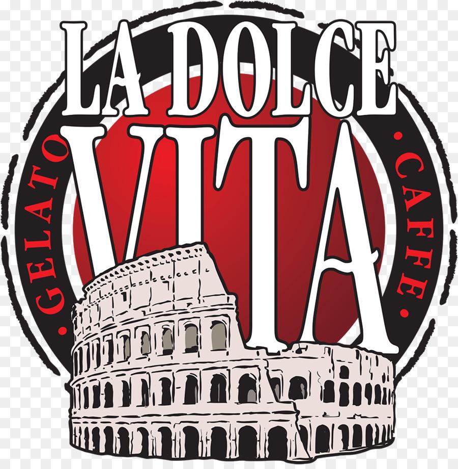 Coffee La Dolce Vita Cafe Logo Menu.
