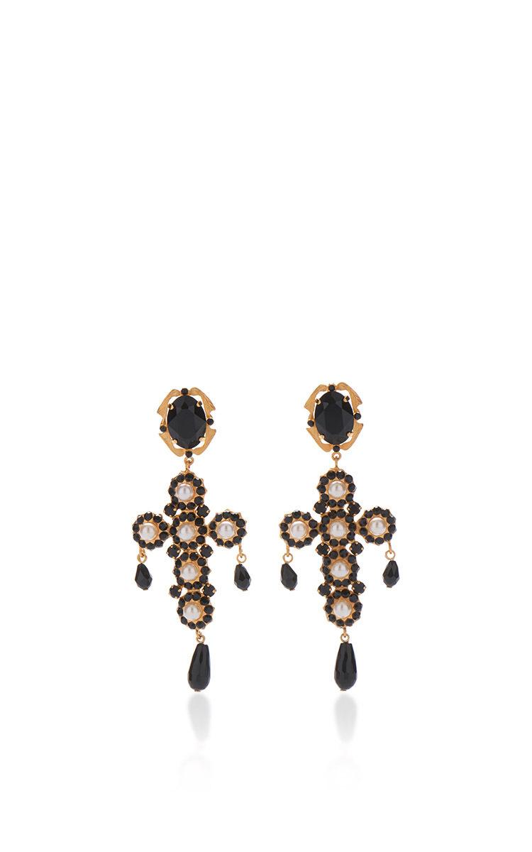 Cross Drop Earrings.