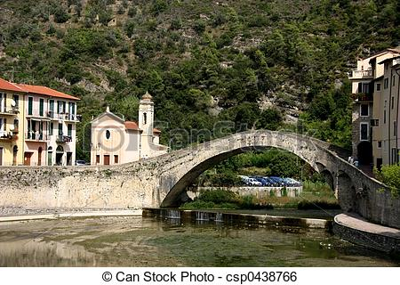 Stock Image of Dolceacqua Bridge.