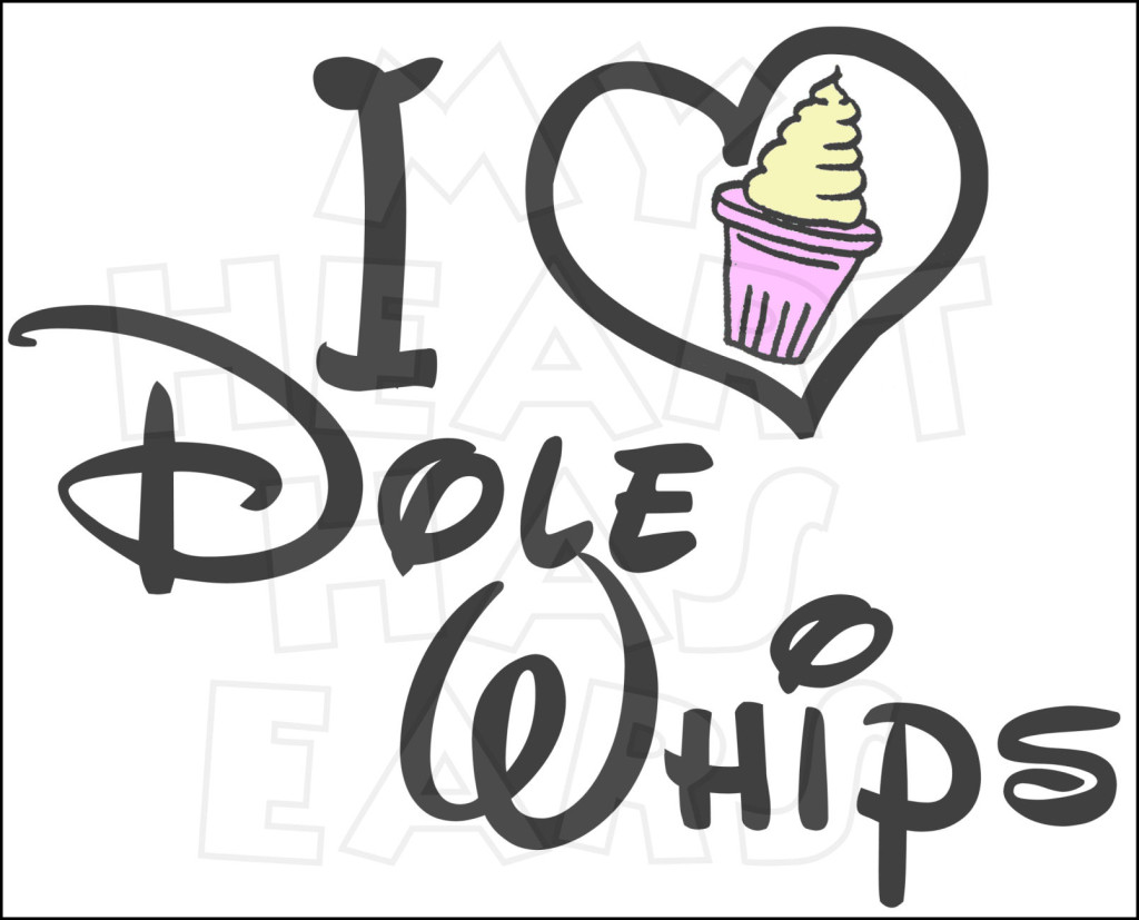 I love heart Dole Whips INSTANT DOWNLOAD digital clip art :: My.