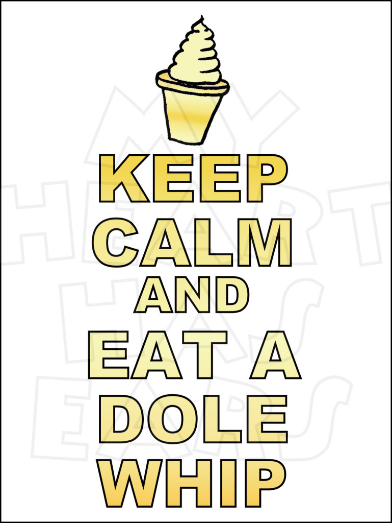 Keep calm and eat a Dole Whip INSTANT DOWNLOAD digital clip art.
