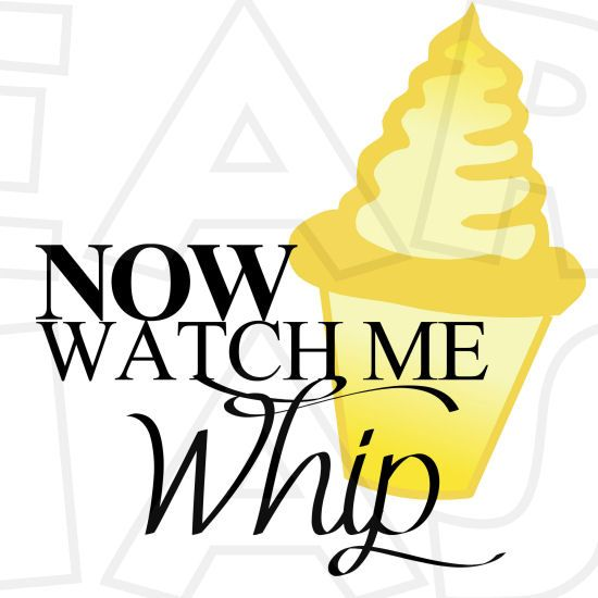 Now watch me whip Dole Whip INSTANT DOWNLOAD digital clip art.