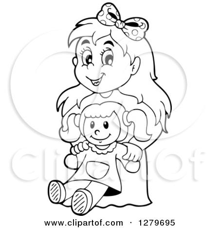 Similiar Black And White Cartoon Doll Keywords.