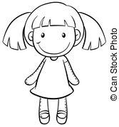 Vectors Illustration of Girl Doll.