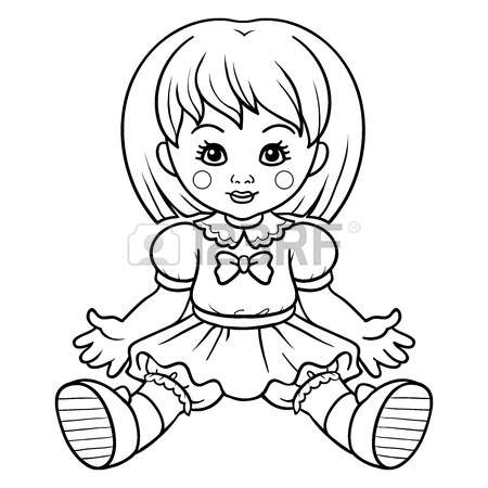 Doll clipart black and white 3 » Clipart Station.