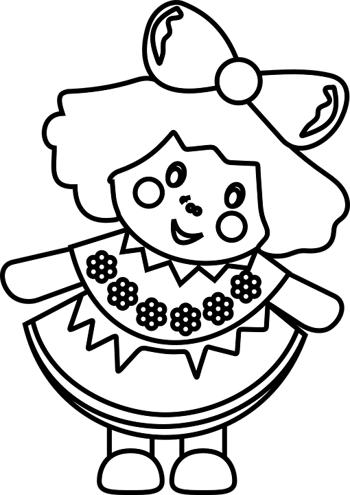 Doll clipart black and white clipart images gallery for free.