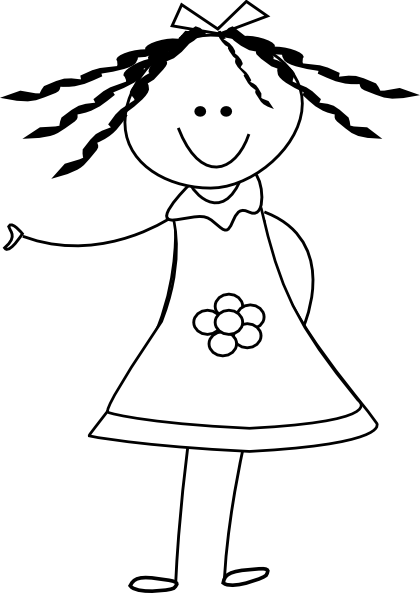 Download Free png Doll clipart black and white.