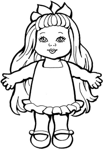 Doll coloring page.