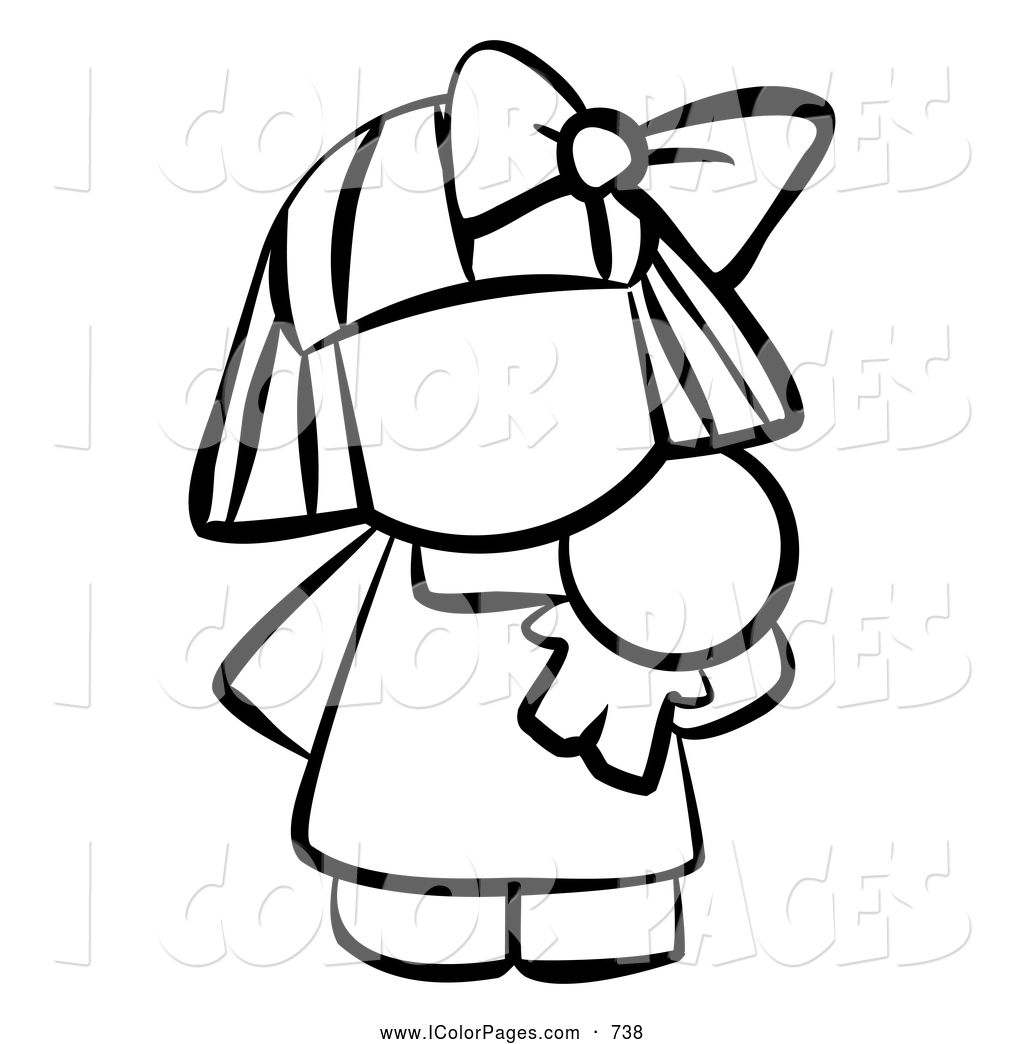 Doll Clipart Black And White.