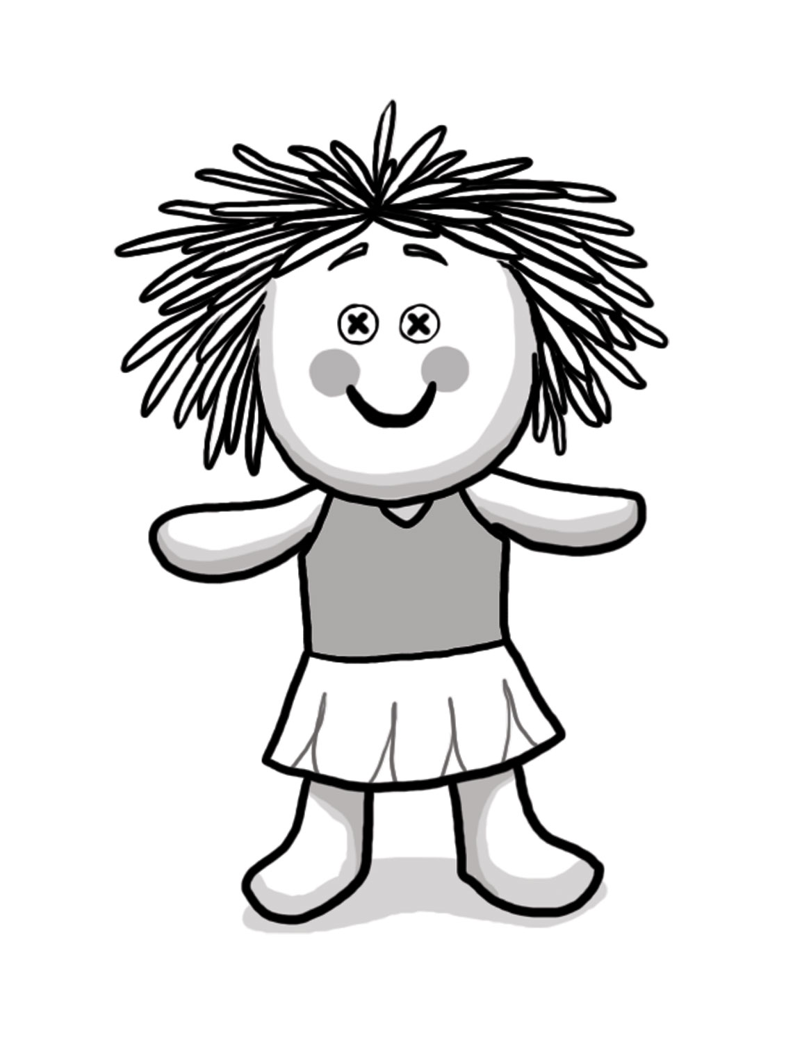 Doll clipart black and white 7 » Clipart Station.
