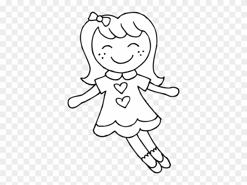 Barbie doll clipart black and white 1 » Clipart Portal.