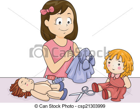 Doll clothes Illustrations, Graphics & Clipart.