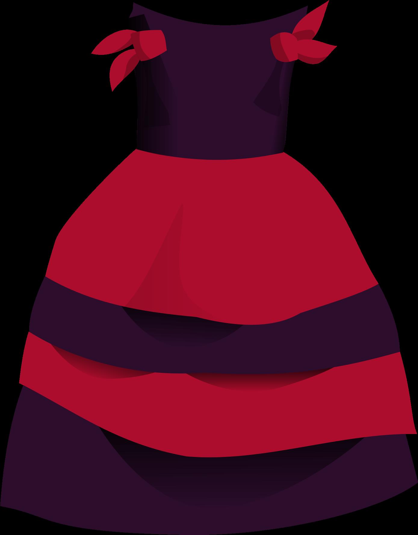 HD Puffy Wedding Dress Clipart.