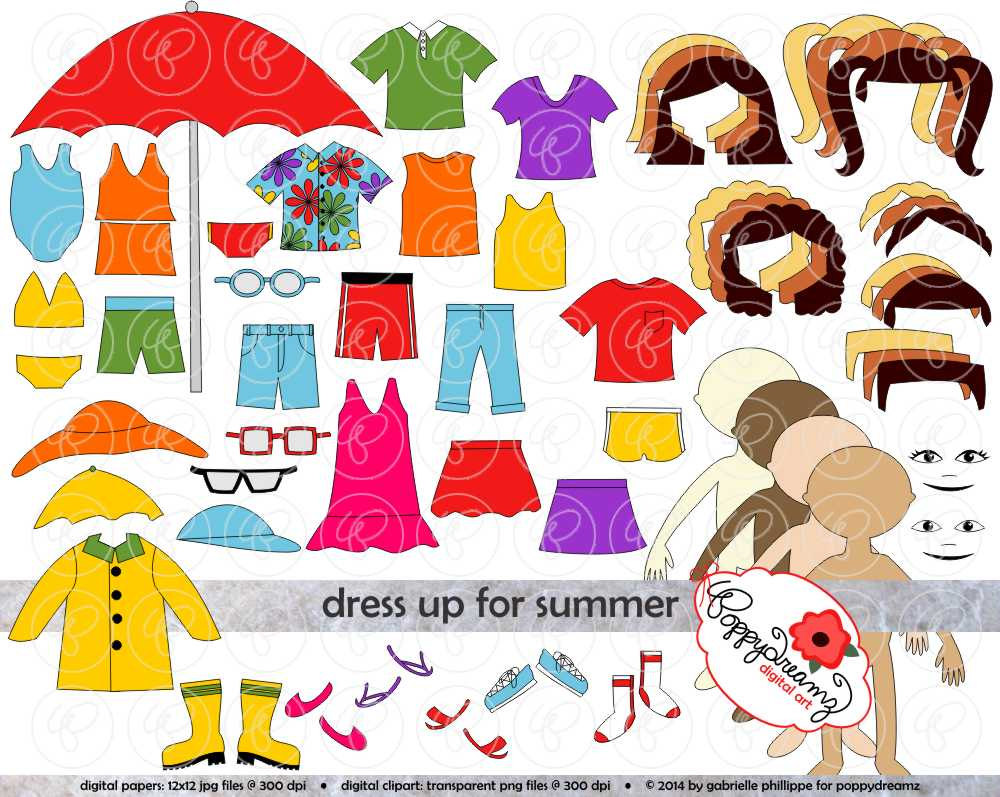 Paper dolls to dress up clipart.