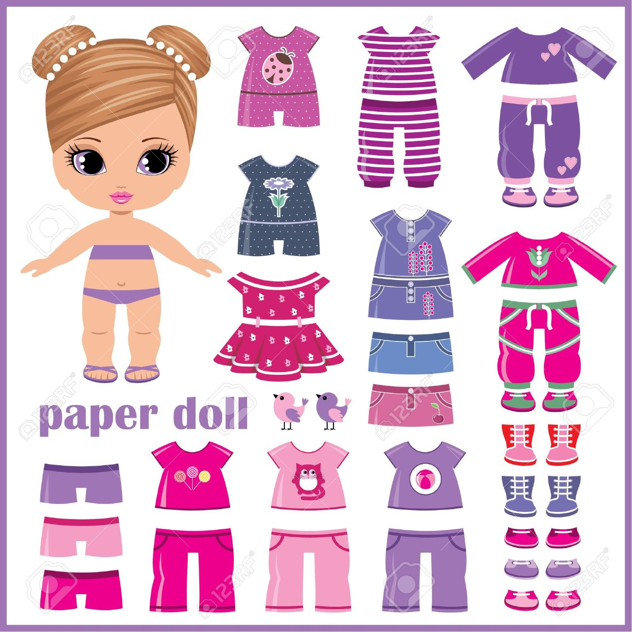 Paper Doll With Clothes Set Royalty Free Cliparts, Vectors, And.