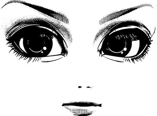 clipart big eyes face #16