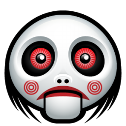 Jigsaw Doll Face Icon, PNG ClipArt Image.