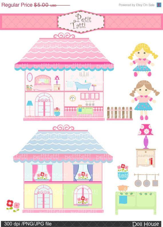 doll house clip art clipart Digital clipart, Doll house, rag doll.