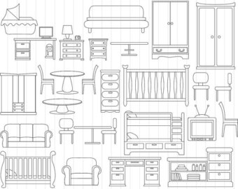 Furniture clipart.