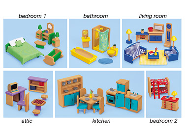 Doll House Furniture Clipart.