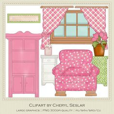 NEW Prim Parlor Furniture Exclusive Clipart by by marlodeedesigns.