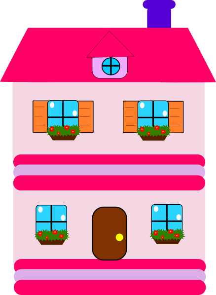 Doll house clip art.