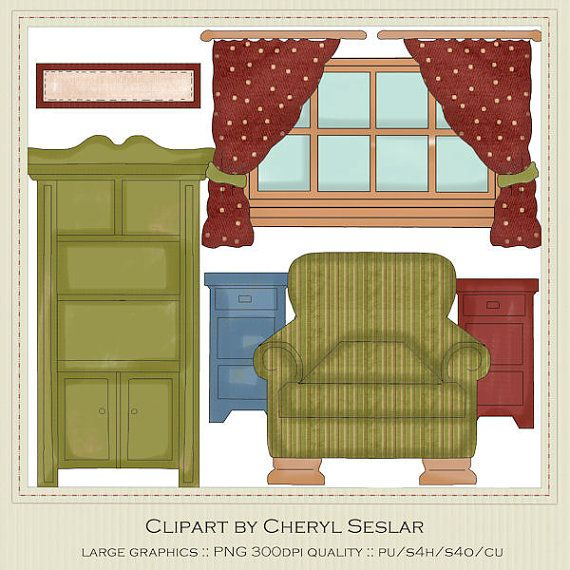 photograph relating to Dollhouse Windows Printable titled Doll Place home furnishings clipart 20 cost-free Cliparts Obtain