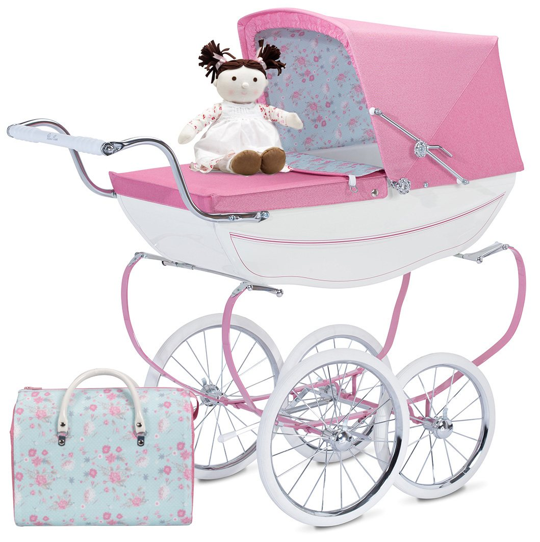 Silver Cross Blossom Dolls Pram + Doll & Bag.
