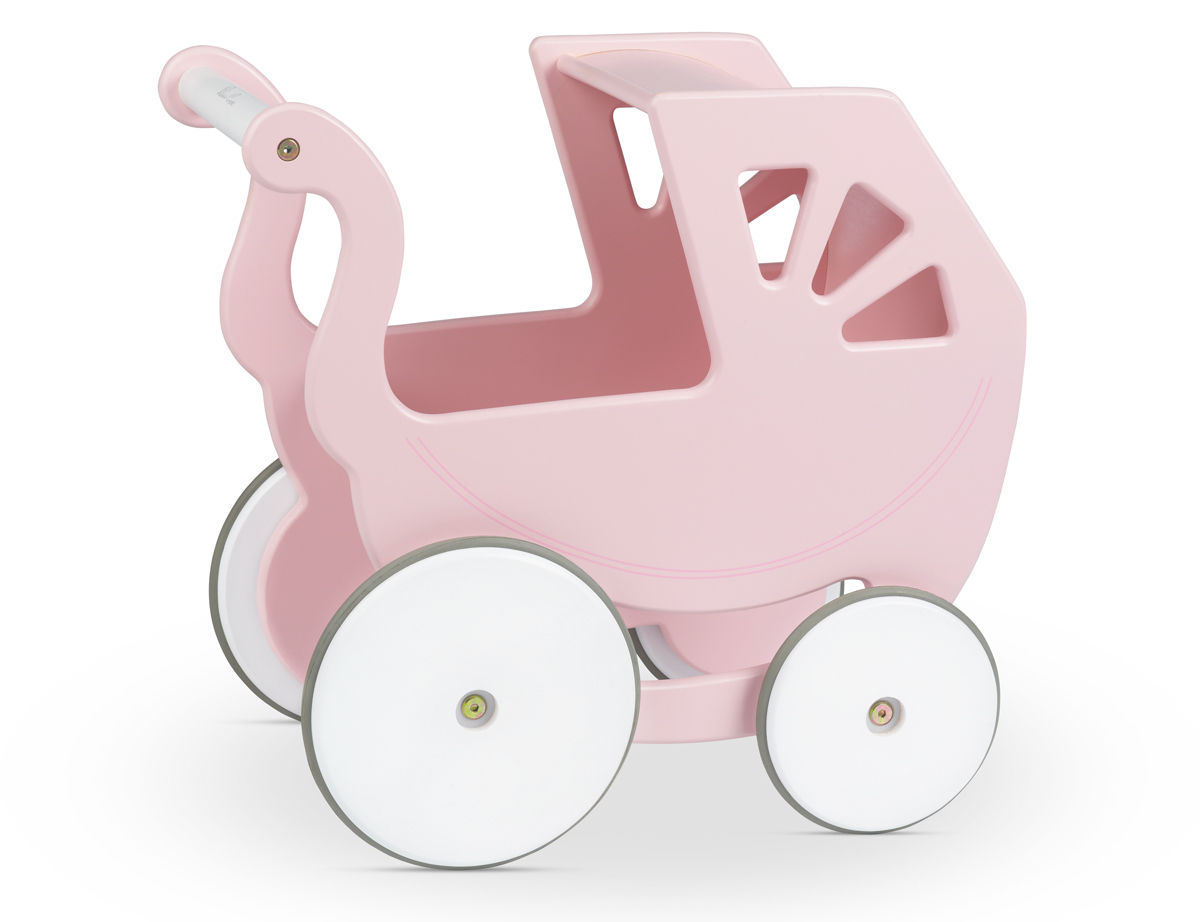 Silver Cross Classic Hand Made Wooden Girls Pink Dolls Pram ~ Lay.