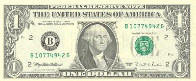 1 Dollar Bill Cliparts.