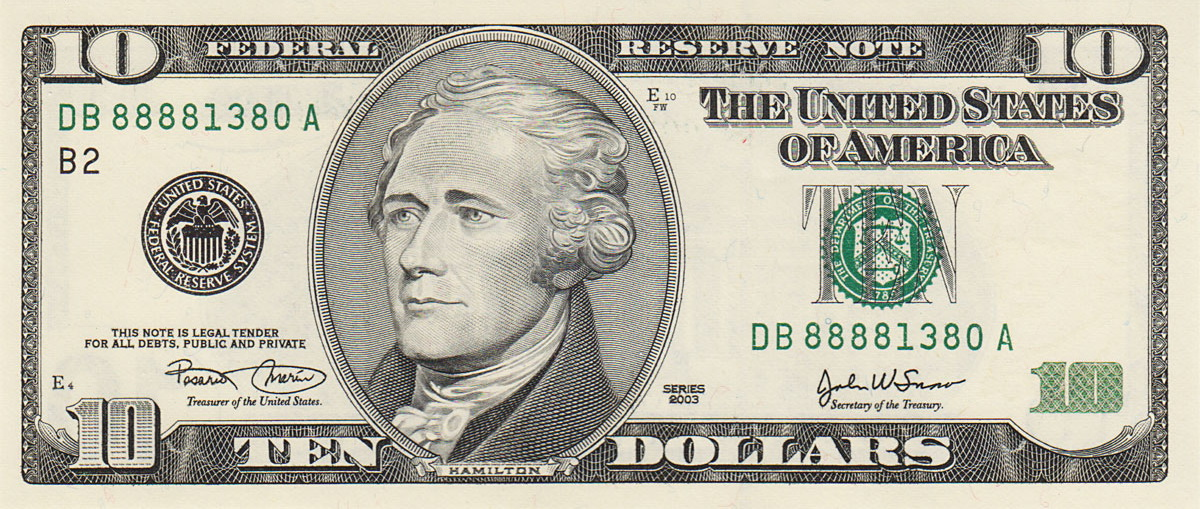 10 Dollar Bill Clipart.