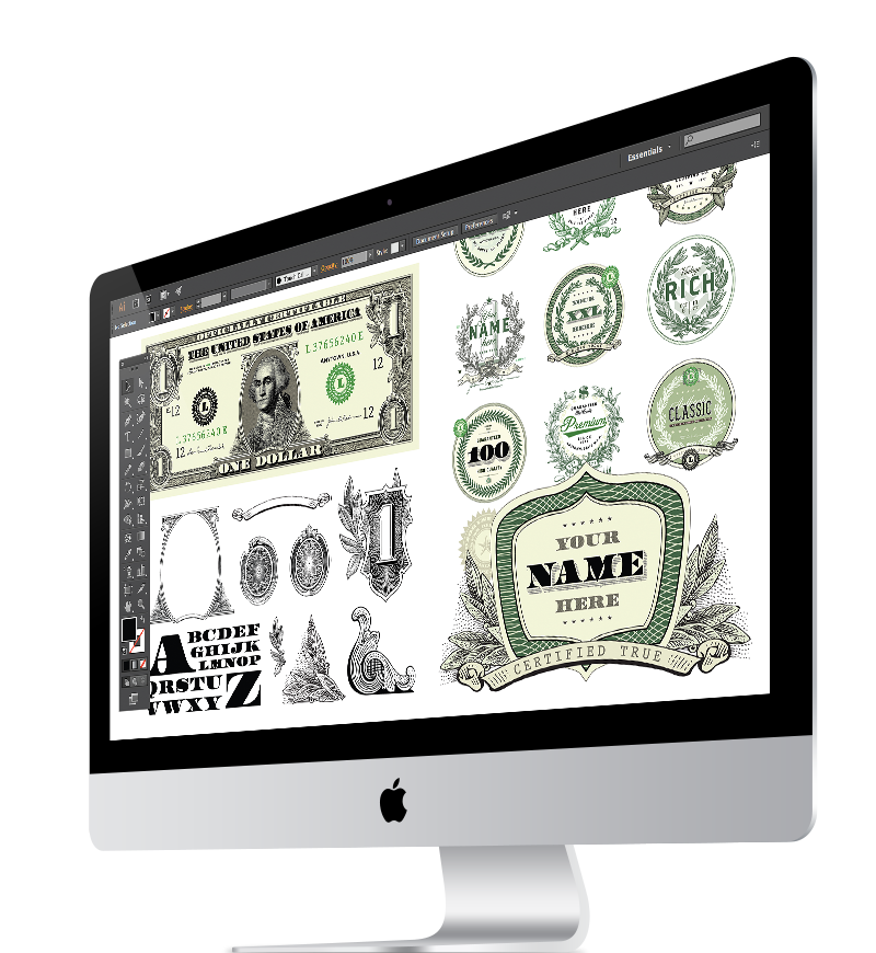 Vector Dollar Bill and Money Clipart Sets.