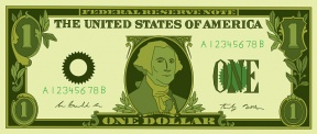 1 Dollar Bill Clipart.