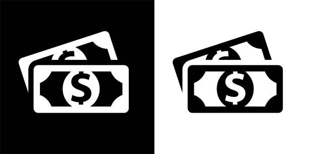 Best Black And White Dollar Bill Illustrations, Royalty.