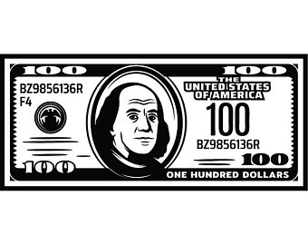 Dollar Bill Clipart Black And White (99+ images in Collection) Page 1.