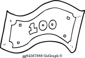 100 Dollar Bill Clip Art.