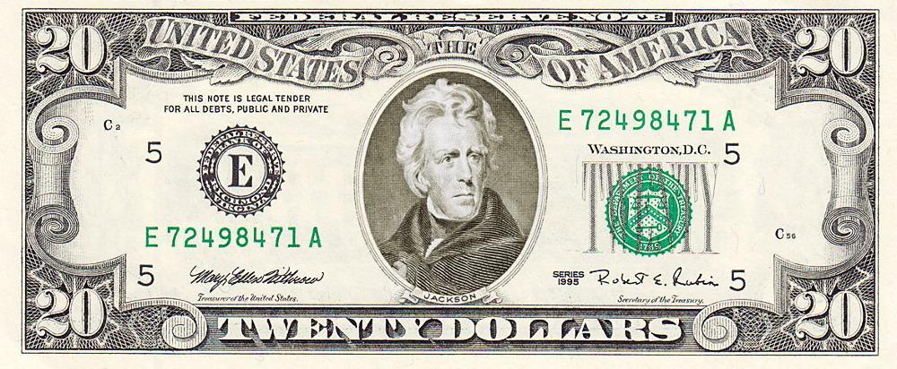 20 dollar bill clipart.